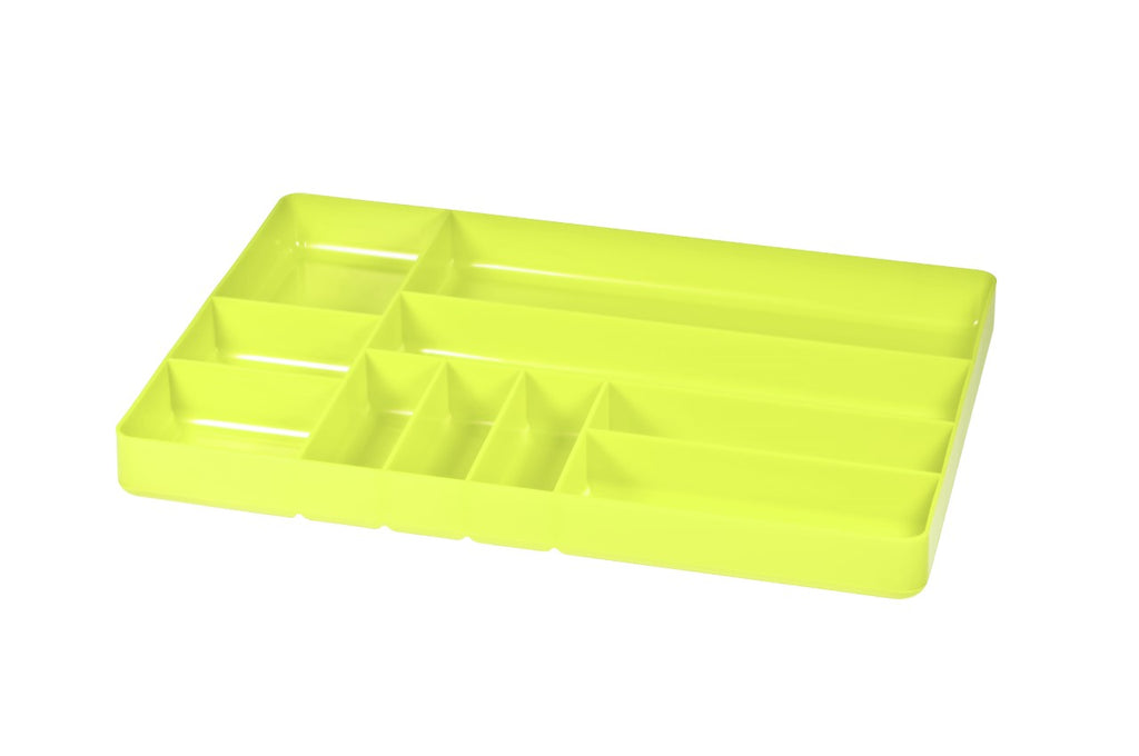 Ernst #5017HV HI VIZ Green 10 Compartment Toolbox Tray Organizer
