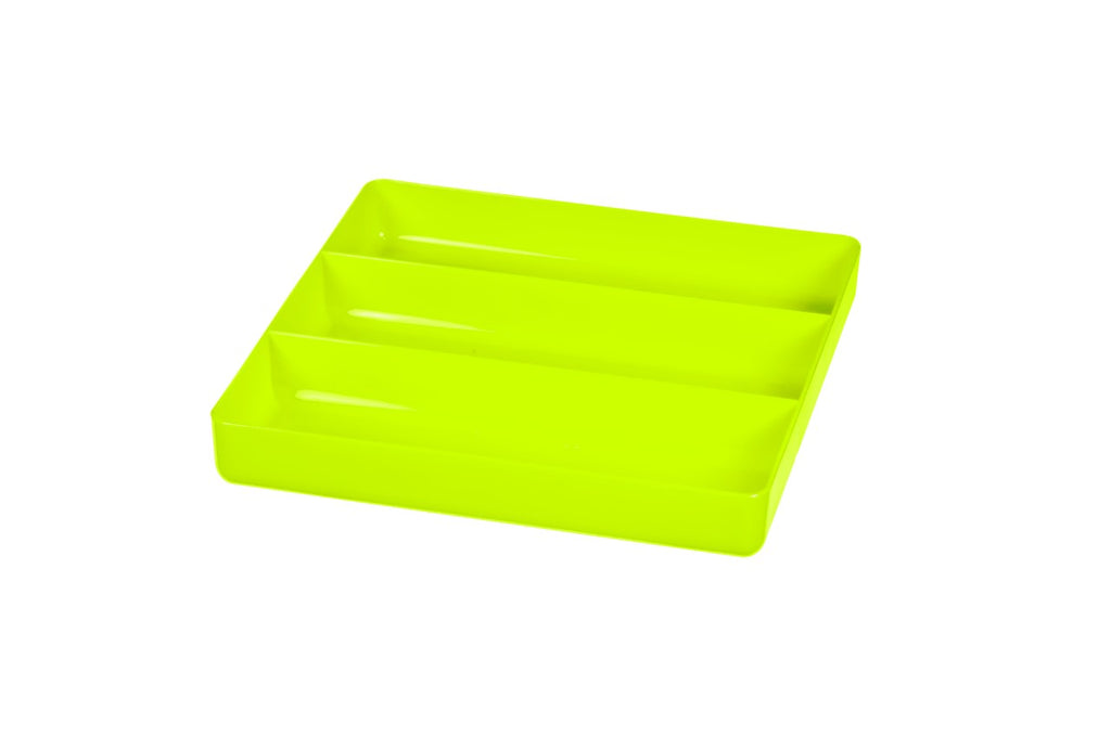 Ernst #5023HV HI VIZ Green 3 Compartment Toolbox Tray Organizer