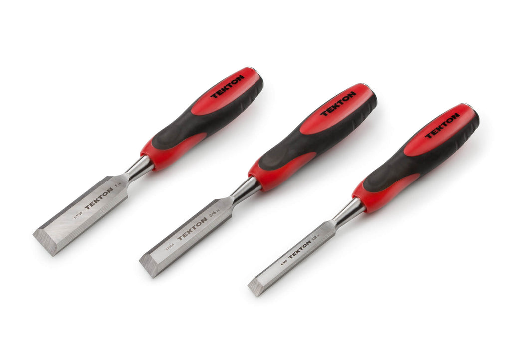 TEKTON 67559 Wood Chisel Set, 3-Piece