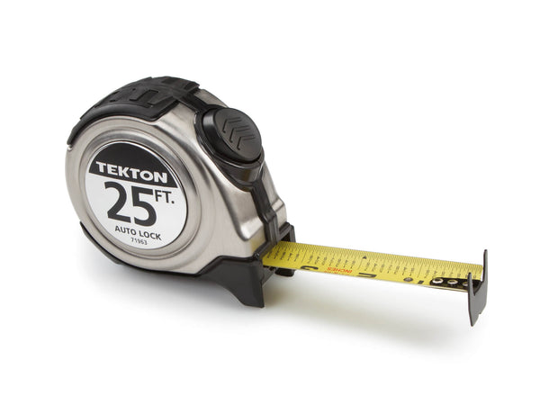TEKTON 71963 25-Foot by 1-Inch Auto Lock Tape Measure