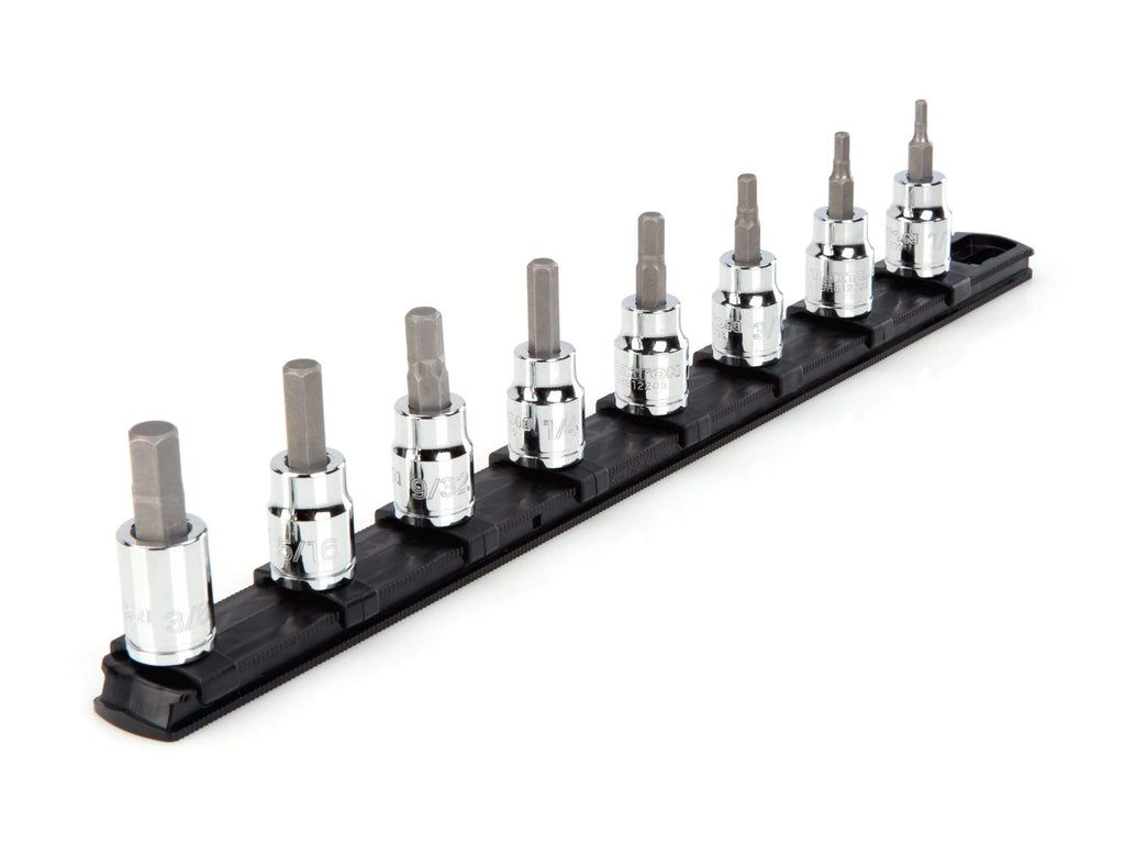 Tekton SHB91101 3/8 Inch Drive Hex Bit Socket Set, 8-Piece (1/8-3/8 in.)