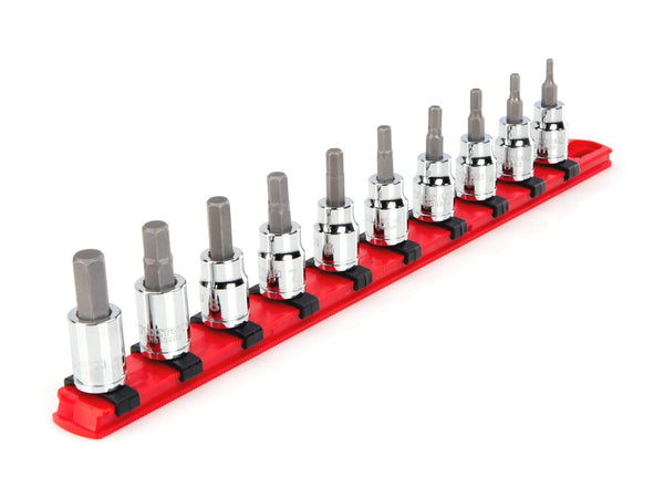 Tekton SHB91102 3/8 Inch Drive Hex Bit Socket Set, 10-Piece (3-10 mm)