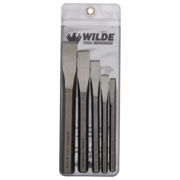 Wilde USA 5 Pc Cold Chisel Set, CC5