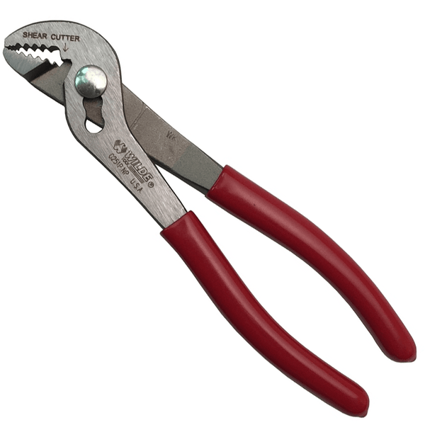 "Wilde USA 6 3/4"" Angle Nose Slip Joint Pliers, G251P"