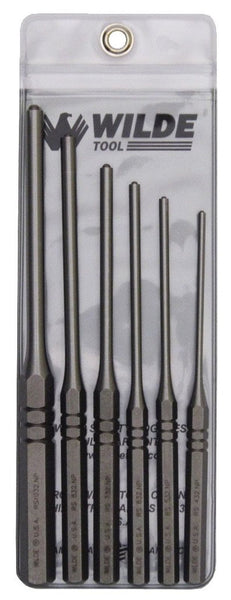 Wilde USA 6 Pc Roll Spring Pin Punch Set, RS906
