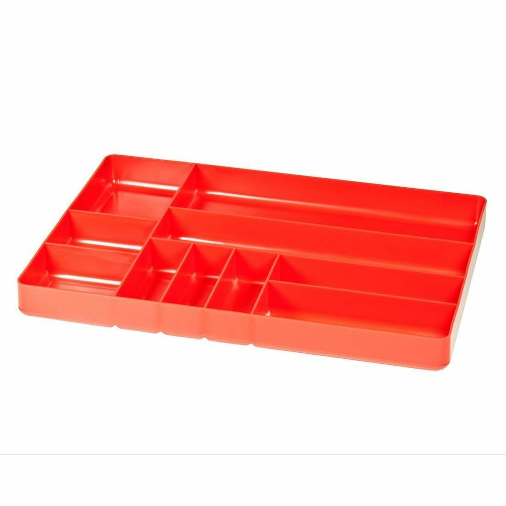 Ernst Manufacturing 5010 10 Compartment Toolbox Tray Organizer, Red