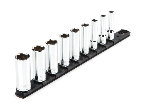 Tekton SHD91105 3/8 Inch Drive Deep 6-Point Socket Set, 9-Piece (5/16-3/4 in.)