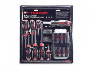 TEKTON 91718 32 Pc Ratcheting & Precision Screwdriver Set