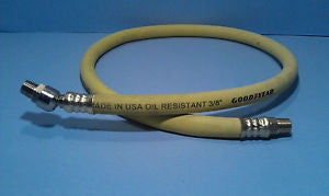 Continental CONTITECH (Formerly Goodyear) 3 Foot Whip Air Hose with Ball Swivel End