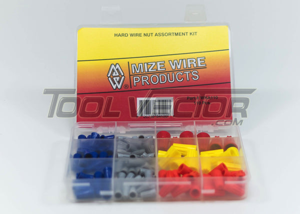 Mize USA 110 Pc Hard Wire Nut Assortment, WNA110