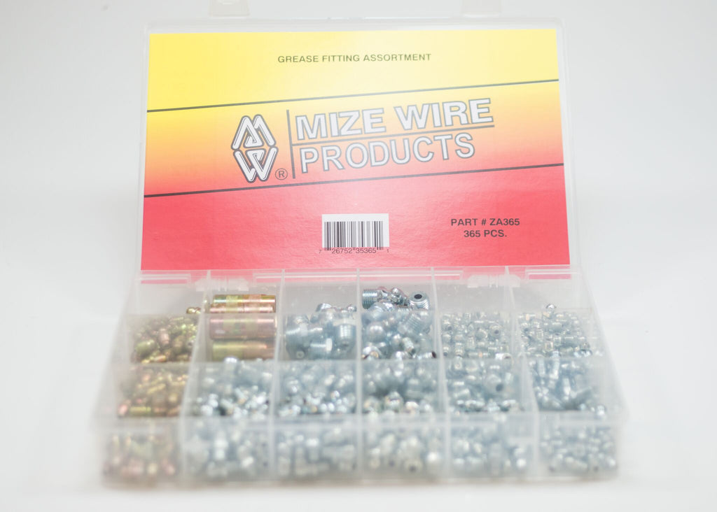 Mize USA 365 Pc Master Grease Fitting Assortment, ZA365