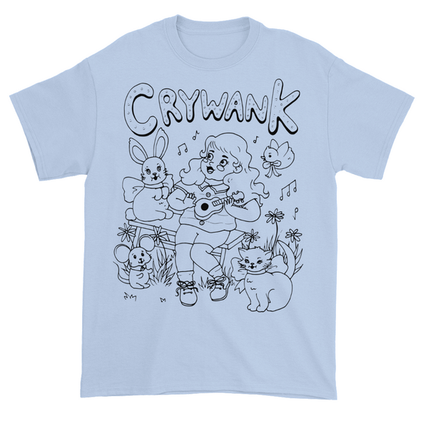 Crywank 'Fairytale' T-Shirt Sky Blue - Monkey Boy Records