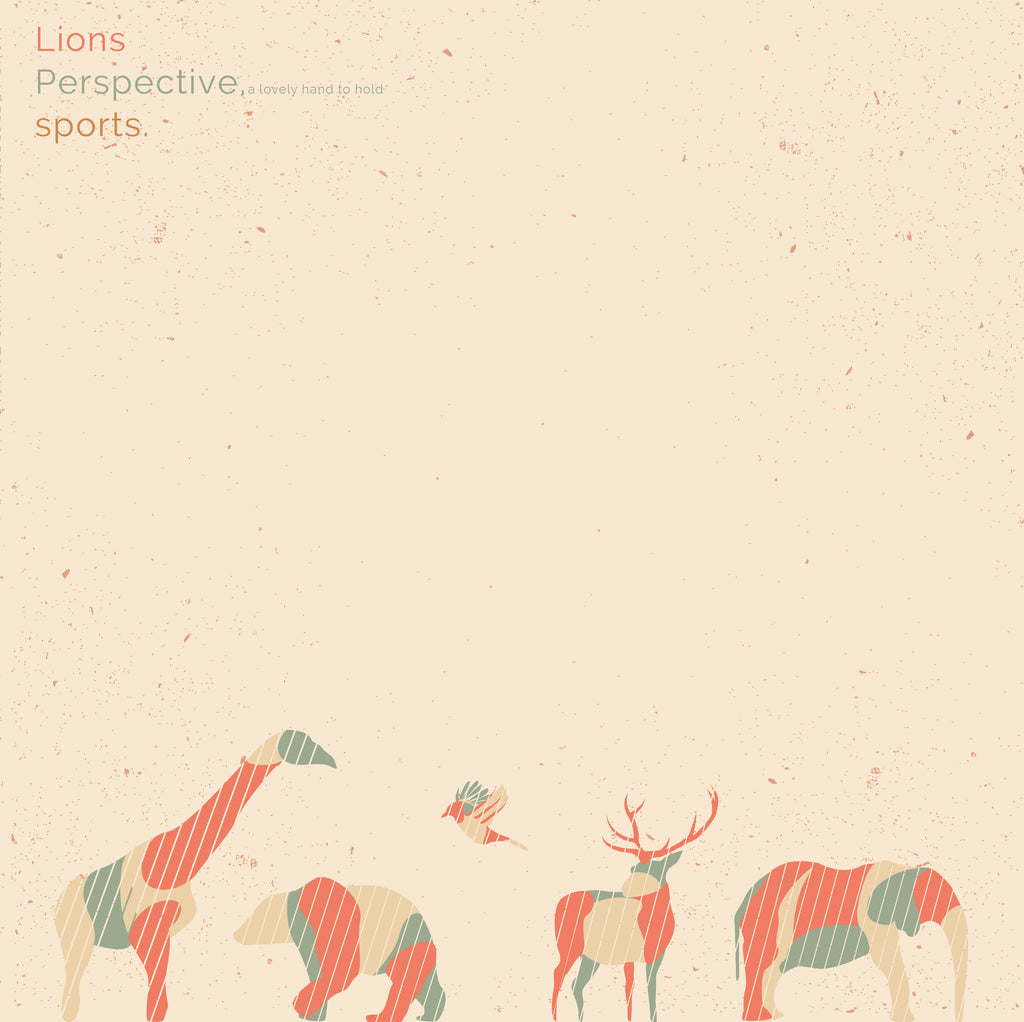 "Lions / Perspective, a lovely hand to hold / sports 3 Way Split<br>12"" Vinyl - Monkey Boy Records - 1"