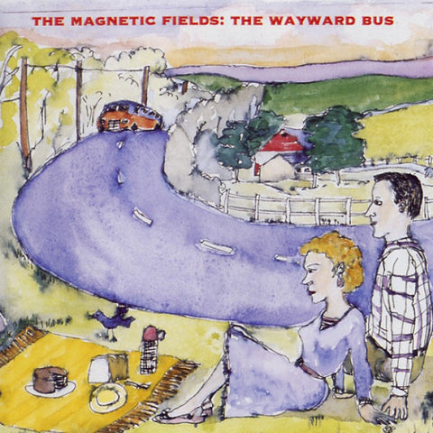 The Magnetic Fields - The Wayward Bus / Distant Plastic Trees<br>Vinyl LP - Monkey Boy Records