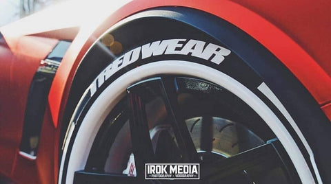 "1"" Tredwear Custom Race Font Lettering Kit"