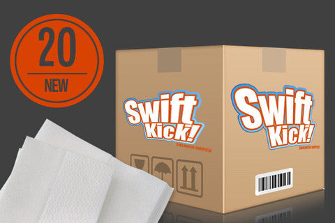Swiftkick Sneaker/Leather Seat Wipes - 20 Pack - Boosted Autosports PTY LTD - 1