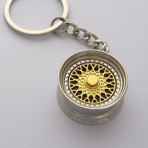 BBS Wheels Keyring - Gold -  - 1