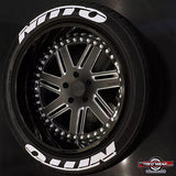 Officially Licensed Double NITTO Designer Series TredWear Tyre Lettering Kit