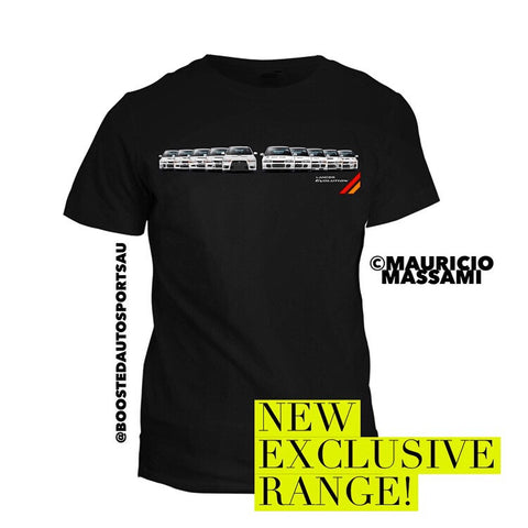"Exclusive Mitsubishi EVO ""Generations"" T-Shirt - Boosted Autosports PTY LTD"