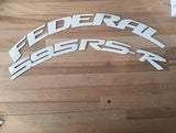 Officially Licensed FEDERAL 595RS-R Designer Series TredWear Tyre Lettering Kit