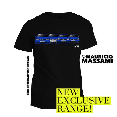 "Exclusive VW Golf R ""Generations"" T-Shirt - Boosted Autosports PTY LTD"