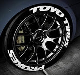 Licensed TOYO TIRES PROXES TredWear Tyre Lettering Kit - Boosted Autosports PTY LTD - 1