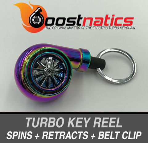 Boostnatics Turbo Key Reel - Neochrome - Boosted Autosports PTY LTD - 1