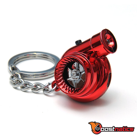 Metallic Red - Boostnatic V5 Electronic Turbo Keychain