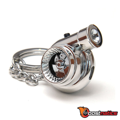 Chrome - Boostnatic V5 Electronic Turbo Keychain