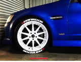 Officially Licensed Double HANKOOK Designer Series TredWear Tyre Lettering Kit