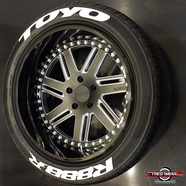 Officially Licensed TOYO R888R TredWear Tyre Lettering Kit