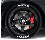 Double NITTO Race Font Series TredWear Tyre Lettering Kit