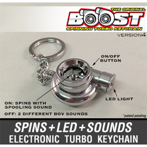 Chrome - Boost V4 Electronic Turbo Keychain -
