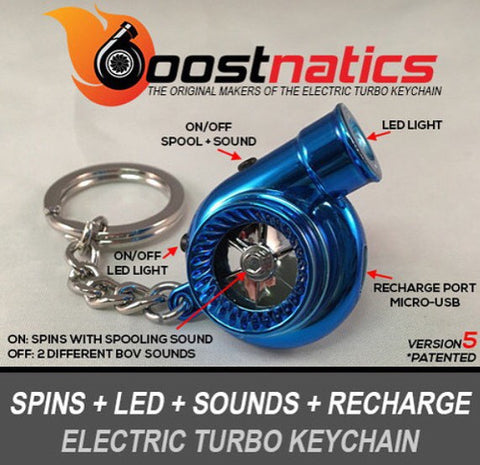 Metallic Blue - Boostnatic V5 Electronic Turbo Keychain -