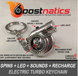 Chrome - Boostnatic V5 Electronic Turbo Keychain -