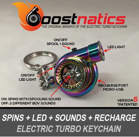 Neo Chrome Boostnatic V5 Electronic Turbo Keychain -  - 1