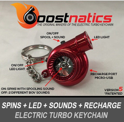 Metallic Red - Boostnatic V5 Electronic Turbo Keychain -