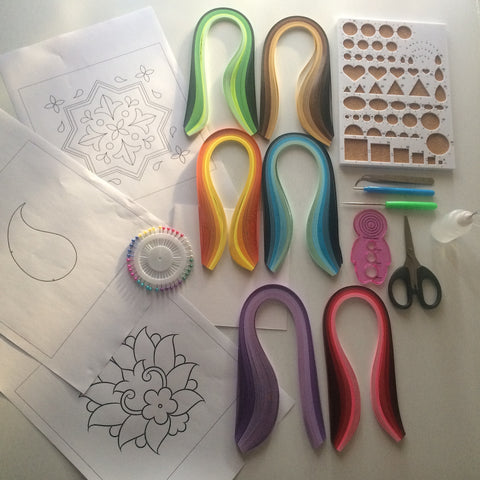 Material for Quilling Workshop