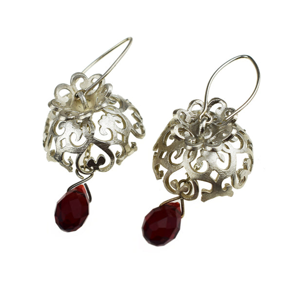 Hundred Rubies Earrings