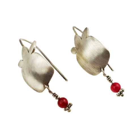 Pomegranate is Red Earrings