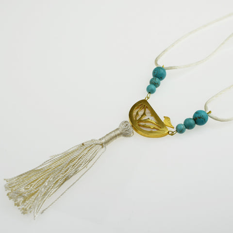 Bird & Turquoise Necklace