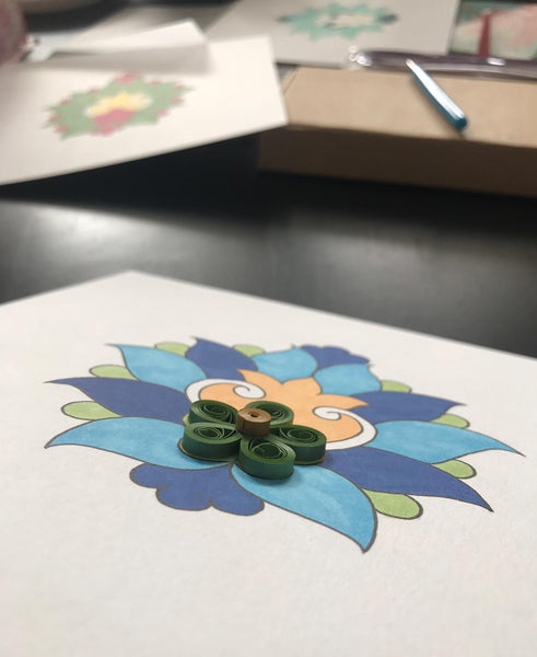 Introduction to Persian Carpet Motif - Mixed Media Art Workshop: Painting and Quilling - Nottingham
