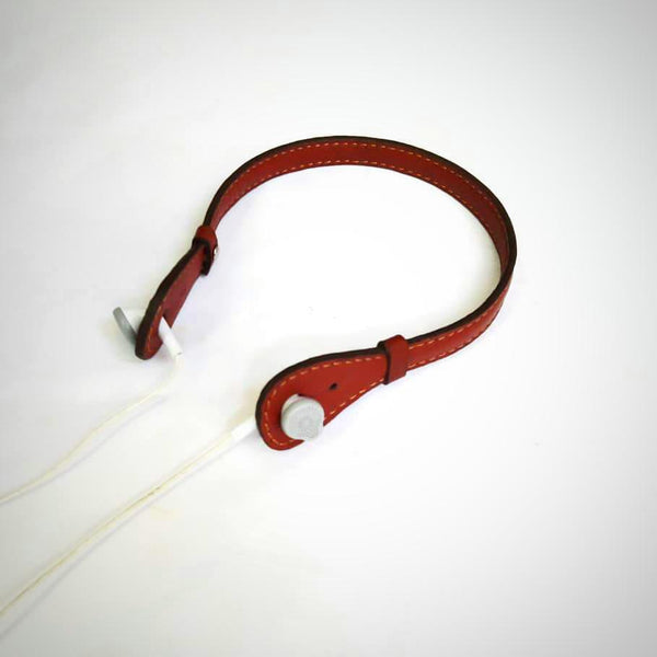 Goat Leather Brown Headphone Holder