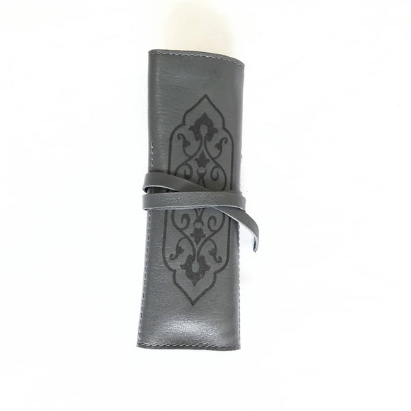 Ash Grey Handmade Leather Pouch