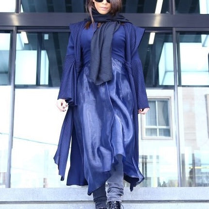Dark Blue Stunning Outwear