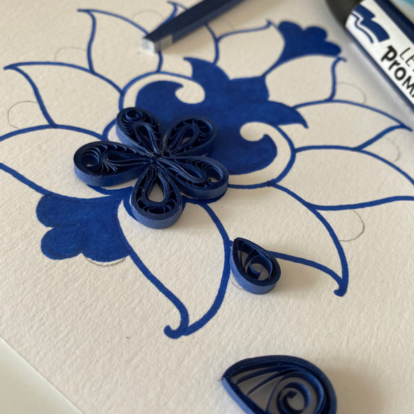 Online Quilling Art Workshop - Make your Own Card this year - Persian Carpet Motif - 5th December