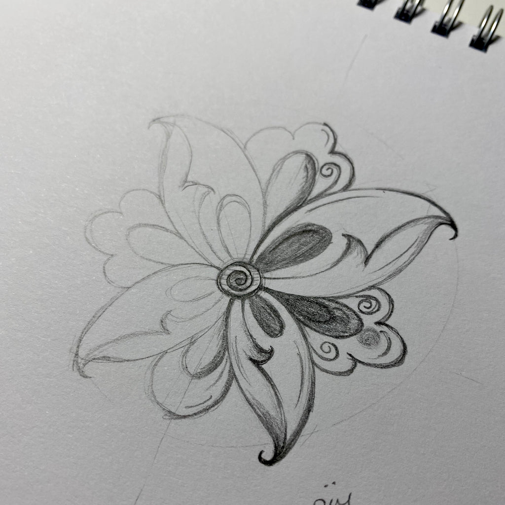 Online Tazhib Workshop - Butterfly Flower - 22nd November