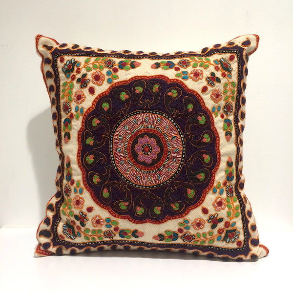 Hand Embroided Needlework/ Patteh Cushion