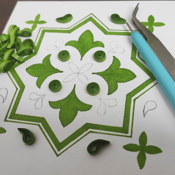 Online Quilling Art Workshop - Make your Own Card this year with a touch of Persian tile - 28th November
