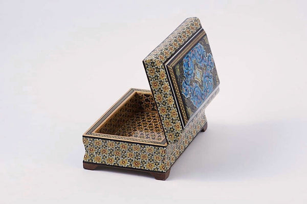 Blue In Middle with Three Different Sizes Khatam / Marquetry Box